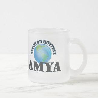 World's Hottest Amya 10 Oz Frosted Glass Coffee Mug