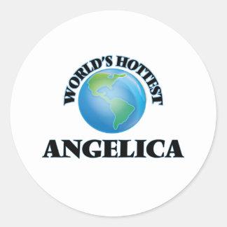 World's Hottest Angelica Round Stickers