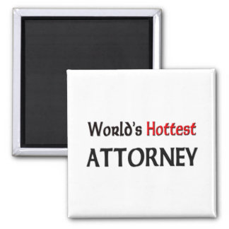 Worlds Hottest Attorney Square Magnet