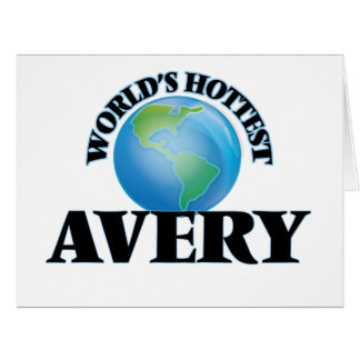 World's Hottest Avery Greeting Cards