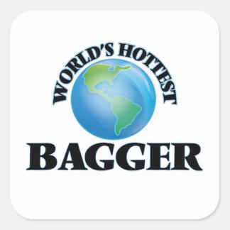 World's Hottest Bagger Square Sticker