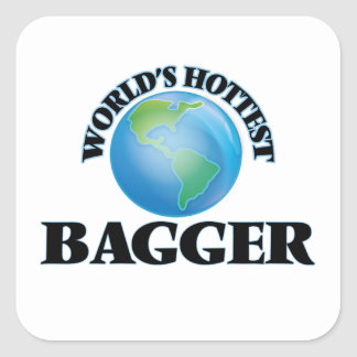 World's Hottest Bagger Square Stickers