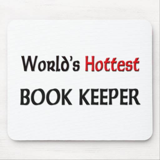 Worlds Hottest Book Keeper Mouse Pad