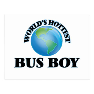World's Hottest Bus Boy Postcards