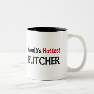 Worlds Hottest Butcher Two-Tone Coffee Mug