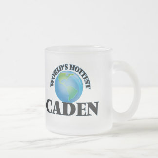 World's Hottest Caden 10 Oz Frosted Glass Coffee Mug