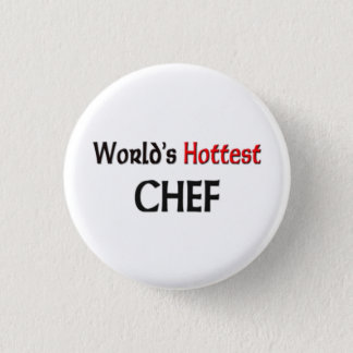 Worlds Hottest Chef 3 Cm Round Badge