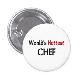 Worlds Hottest Chef 3 Cm Round Badge