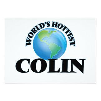 World's Hottest Colin 13 Cm X 18 Cm Invitation Card