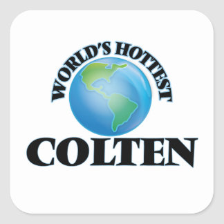 World's Hottest Colten Square Sticker