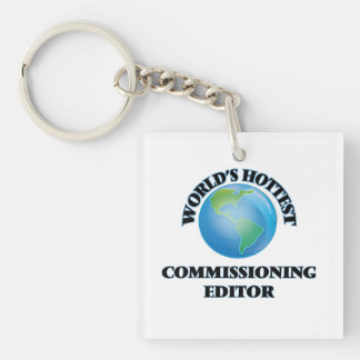 World's Hottest Commissioning Editor Square Acrylic Key Chain