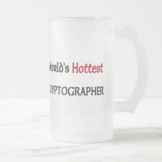 Worlds Hottest Cryptographer Frosted Glass Mug