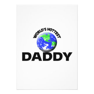 World's Hottest Daddy Personalized Invitation