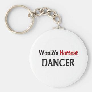 Worlds Hottest Dancer Basic Round Button Key Ring