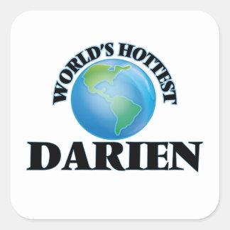World's Hottest Darien Square Stickers