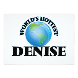 World's Hottest Denise 13 Cm X 18 Cm Invitation Card