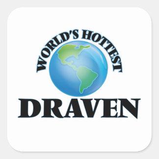 World's Hottest Draven Square Stickers