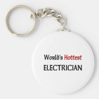 Worlds Hottest Electrician Key Ring