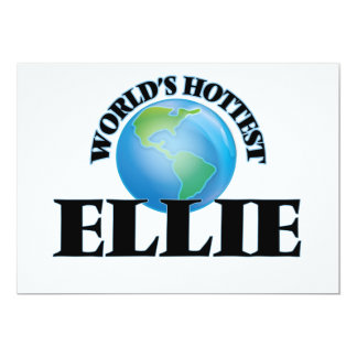 World's Hottest Ellie Customized Announcement Cards