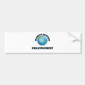 World's Hottest Ergonomist Bumper Stickers