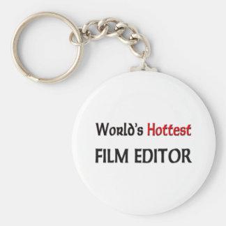 Worlds Hottest Film Editor Basic Round Button Key Ring