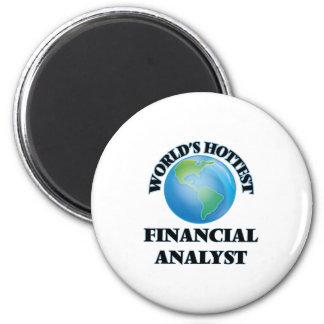 World's Hottest Financial Analyst Refrigerator Magnet