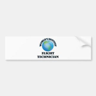 World's Hottest Flight Technician Bumper Sticker