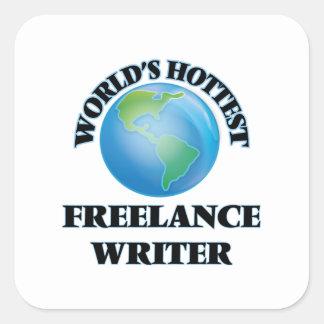 World's Hottest Freelance Writer Stickers
