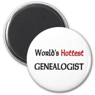 Worlds Hottest Genealogist 6 Cm Round Magnet