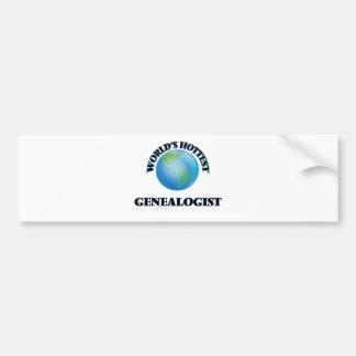 World's Hottest Genealogist Car Bumper Sticker