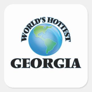 World's Hottest Georgia Square Stickers