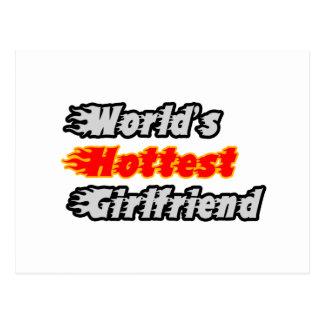 World's Hottest Girlfriend Postcard