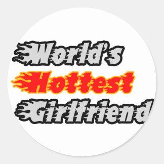 World's Hottest Girlfriend Stickers