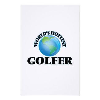 World's Hottest Golfer Customized Stationery