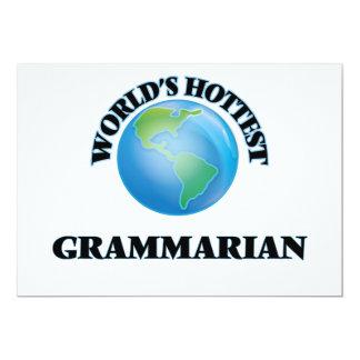 World's Hottest Grammarian Custom Invitations