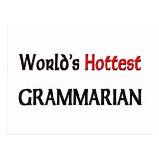 Worlds Hottest Grammarian Postcard