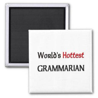 Worlds Hottest Grammarian Square Magnet