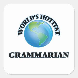 World's Hottest Grammarian Stickers