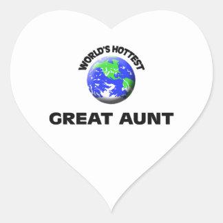 World's Hottest Great Aunt Heart Sticker