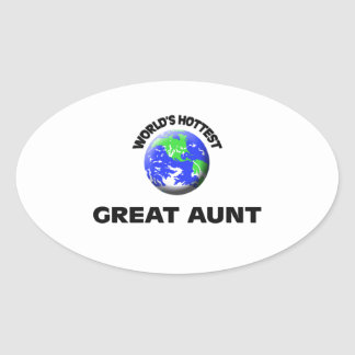 World's Hottest Great Aunt Oval Sticker