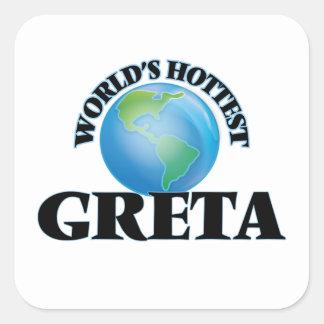 World's Hottest Greta Sticker
