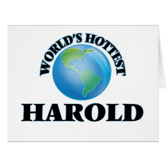 World's Hottest Harold Greeting Card