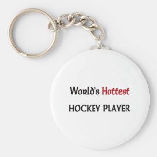 Worlds Hottest Hockey Player Basic Round Button Key Ring