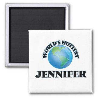 World's Hottest Jennifer Refrigerator Magnet