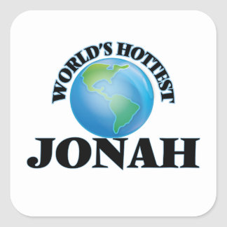 World's Hottest Jonah Square Sticker