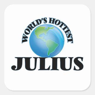 World's Hottest Julius Square Sticker