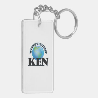 World's Hottest Ken Rectangular Acrylic Key Chains