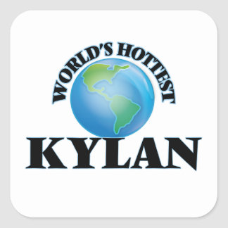 World's Hottest Kylan Square Stickers