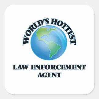 World's Hottest Law Enforcement Agent Square Sticker