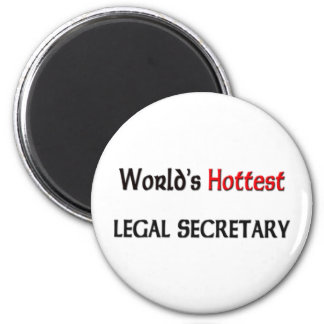 Worlds Hottest Legal Secretary Refrigerator Magnet